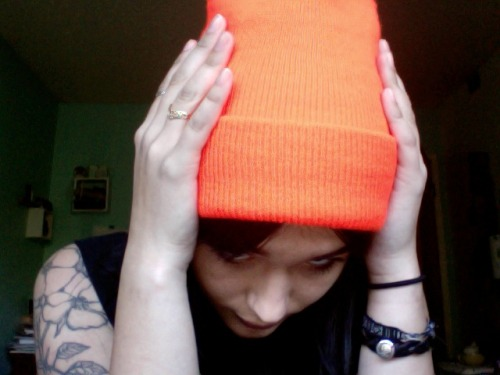 my beanie is so bright it gives off its own aura!