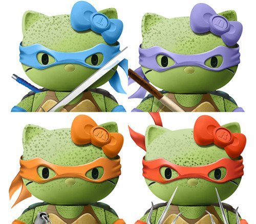 beautiful-disaster741:  this is so cute hello kitty ninja turtles :)  Awesome!!