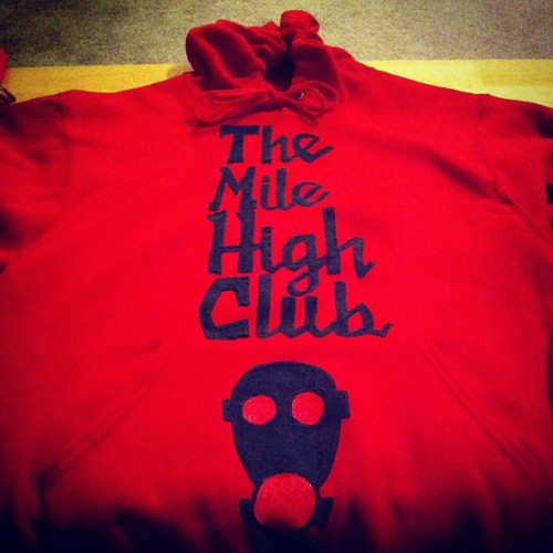 The mile high club pullover. Grab one today and become a member.