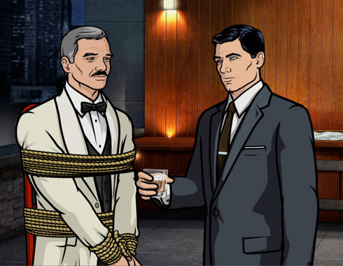 "gq:  What Would Archer Do? We're in the business of teaching the sacred Art of Manhood here at GQ, but sometimes we leave out a few lessons. Like how to wield a bõ staff to bludgeon your enemies. Or seduce women with a single pick-up line (in 16 different languages). Or drive an elephant. For these topics, we humbly defer to Sterling Archer, the self-proclaimed World's Greatest Spy…in the World:  GQ: You and Burt Reynolds coincidently arrive at a brothel in Thailand at the same time and you're both interested in the same prostitute. Coincidently. Who gets first dibs?  Sterling Archer: Man, if I had a dollar for every time (I've wished that) this happened to me… I'd probably have about forty dollars. Which, coincidentally, is also the going rate for a half-and-half at my favorite Thai brothel. And not only would I defer to Burt, I'd also probably just choose a different girl; how do you follow an act like that? GQ: The Second World's Greatest Spy…in the World invites you to dinner at a restaurant that's surrounded by a pool of alligators and crocodiles. If you accept, he might poison you. If you decline, he calls you a ""scaredy-cat."" What's the appropriate response? Sterling Archer: ""Sticks and stones."" By which I mean I would arrive at the restaurant with a bunch of rocks in my pockets, wielding a bõ staff. After pummeling this wannabe with both, I would then use the bõ staff to pole vault over the monster-filled pool. That, or just not go. Q: You know how to say, ""I am a secret agent. Will you have sex with me?"" in over two dozen languages. How do you convince a foreigner to participate if she speaks none of them? Sterling Archer: I carry a laminated fold-out in my wallet with DOT pictograms of various sexual positions.  Read the rest here."