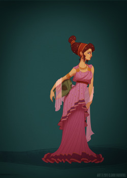 Finally moving on to the unofficial Disney ladies with Megara! So fantastically simple to research, just put her in a simple doric chiton and spent most of my time researching fabric colours and patterns to see what I could get away with. It kinda looks like she killed Hercules and took his helmet? I'm okay with that. -C See the rest of the series HERERead the FAQ HEREBuy prints HERE