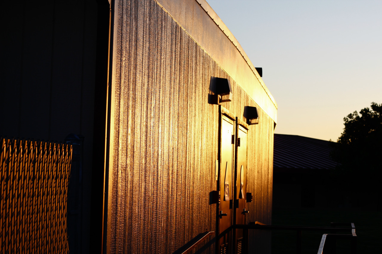 Even the those cheap portable buildings can be beautiful.