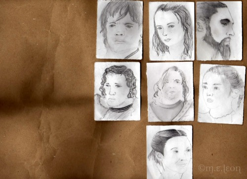 marzimar:  Game of Thrones-character Sketches (Unfinished) All characters belong to George R.R. Martin Sketches: ©2012 M.E. Leon