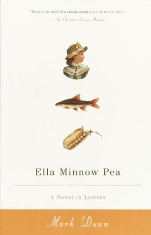 "Title: Ella Minnow Pea Author: Mark Dunn Ella Minnow Pea is a deceptively charming little book. Reminiscent of Flowers for Algernon and Swimming With Dolphins, the book's story is told solely using the letters of the people living on a fictional island off the east coast of the US. Said island is the imaginary place of origin for Nevin Nollop, the man who wrote the pangram, ""The quick brown fox jumps over the lazy dog."" The island in the book is named after him and there is even a statue in town with the famous sentence inscribed on tiles. When the tiles start to fall from the statue, the island's linguiphiles are in for a shock. The island's council begins a campaign that will have serious repercussions for the inhabitants, for by decree the letters that fall are banned from use in both written and spoken language. Nollop is deified and their very way of life is threatened. Eliminate the lost letters, or face public punishment and eventually banishment - on threat of death if you return to the island. Thus begins a war against crazed fanaticism and daily censorship. The majority of the correspondence in the book are letters written between a girl named Ella and her cousin, who is also her best friend. The reader follows along as entire words must be eliminated from vocabularies, months and days of the week are renamed, and the islander's lives fall apart. A people that once loved language, letters, and writing above all else fold up into a collection of people that dare not talk or write too much, for fear of a slip-up that might result in banishment. The only way to end the madness is for an islander to write a pangram that is shorter than Nollop's famous phrase, to prove that he was not an unmatchable genius or a god in any form.  I can only imagine the challenge of actually writing this book, and admire the unique way it was written. It would have been one thing to describe the happenings on the island without restricting yourself. Instead Dunn gives the reader access to the islanders' personal and private letters, giving an up close and personal experience of the frustration, fear, and determination. This is a book that deserves to be a classic, read in schools for years to come, to be analyzed and applied to daily life. A whimsical yet dark picture of government run amuck, while emphasizing the importance of our letters, words, and language to communicating and expressing ourselves. An outstanding book and one that appeals to any reader, as I imagine if you like reading books, you have an inherit appreciation for words and language. -Kate"