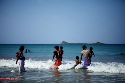 Family outing to the beach, Trincomalee