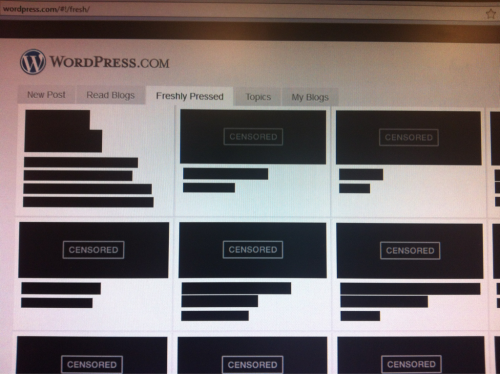 Censored Wordpress