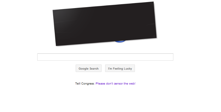 GO GOOGLE!!!(they said they wouldn't black out their image) Oppose SOPA & PIPA! Contact your local represenstives. I already have, maybe the 2nd time will be the charm? Never take knowledge for granted.