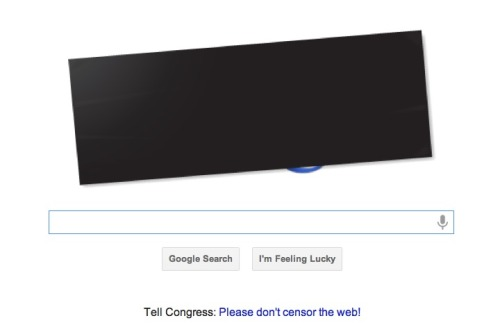 Google's homepage today.
