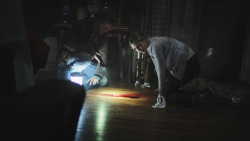 Elizabeth Olsen & Eric Sheffer Stevens - Silent House movie still