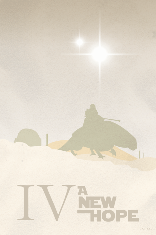 Today, Star Wars A New Hope Minimalist ! I'll do the three one first ! then maybe the others… maybeeee
