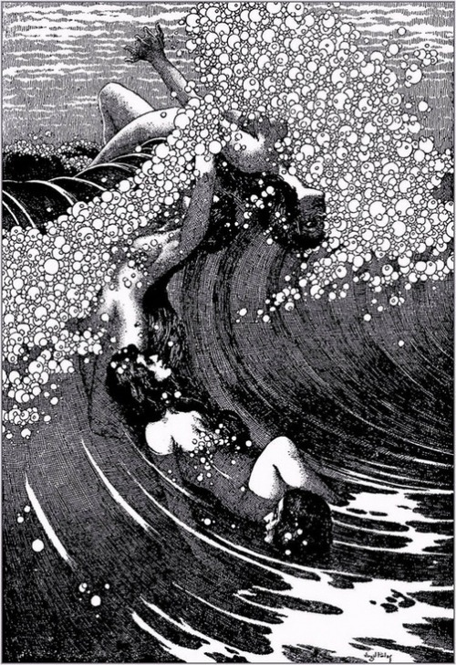 via hoodoothatvoodoo:  Siren Song by Virgil Finlay
