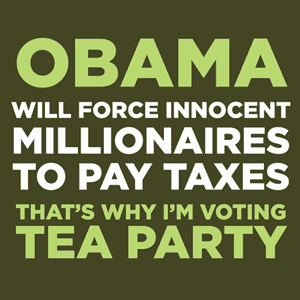 wickedclothes:  Tea Party Shirts Are you voting Republican in 2012?  Proudly display to the world why with these shirts from I'm Voting Tea Party!  After having Adam Baldwin himself reply to my tweets after I forgot that despire being a great actor he is a republican political wing-nut, I enjoy these shirts even more. I wonder if I should send him one as fan-mail?  I should… but which one? ;p