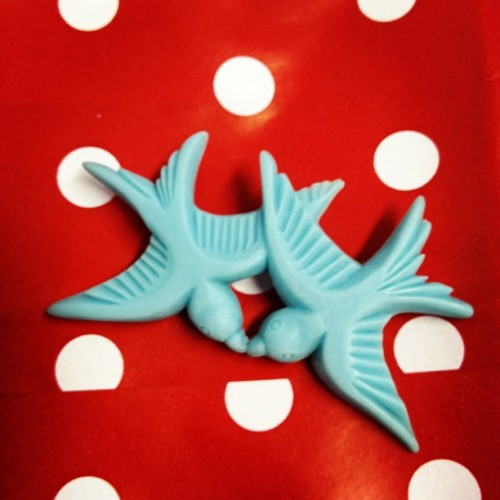 Swallows brooch @kissmezombie  (Taken with instagram)