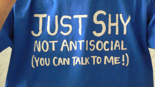 Just Shy Shirt I think the Tumblr crowd can empathize with this. Sold at the xkcd store.