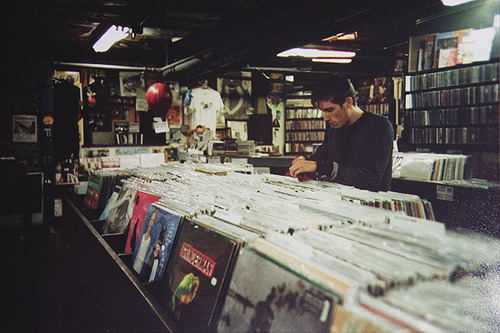 I miss vinyl and the hunt for gems at a music store.