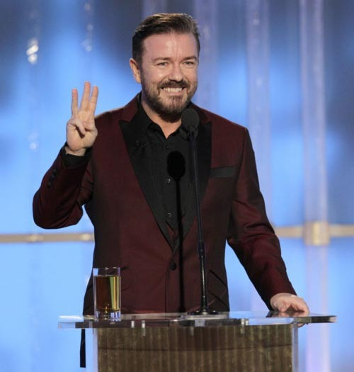 Ricky Gervais talks about his Golden Globes performance Despite some commentators suggesting Ricky Gervais' latest performance at the Golden Globes  was tame in comparison to his recent outings, we actually found his more relaxed, confident delivery a welcome change from last year's wince-inducing controversy-fest…