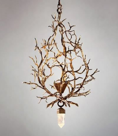 Herve van der Straeten . I first saw this light fixture contrasting the very smooth with the very rough. I will post a few more of this neo-baroque designer's pieces that i like.