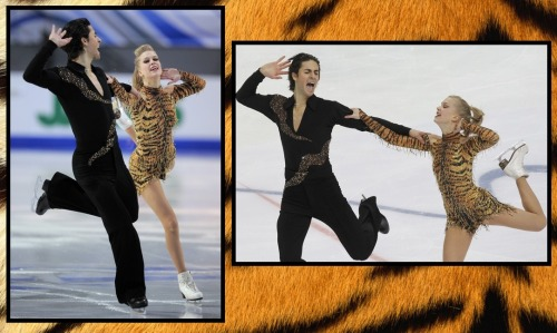 Kaitlyn Weaver and Andrew Poje skating their Latin short dance at the 2011 Grand Prix Final and 2011 Cup of Russia. Their music was Historia de un amor by Perez Prado and Batacuda by DJ Dero. Photos from Daylife.com.