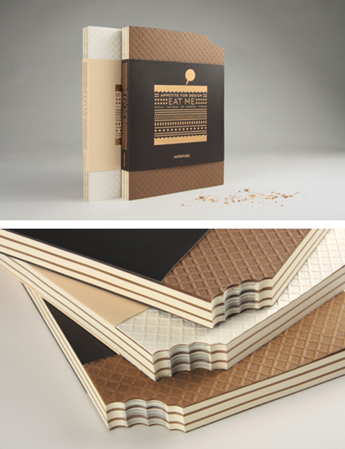 smallbig-blog:  Love the die-cut on Eat Me: Appetite For Design, published by Victionary. At the link, Creative Review takes a look inside.