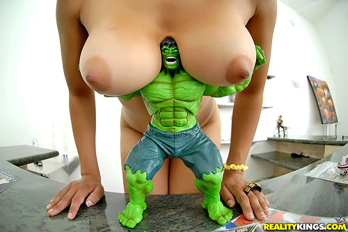 The hulk's heavy weight strength!