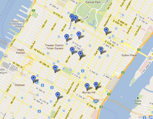 A Map of Politico's Newspaper Boxes As Joe Pompeo reported yesterday, Politico is now distributing free copies of its daily newspaper in New York City. Here's a map of where you can find the print editions (which also happens to point out where the city's financial and media markets are located). (via @zseward)