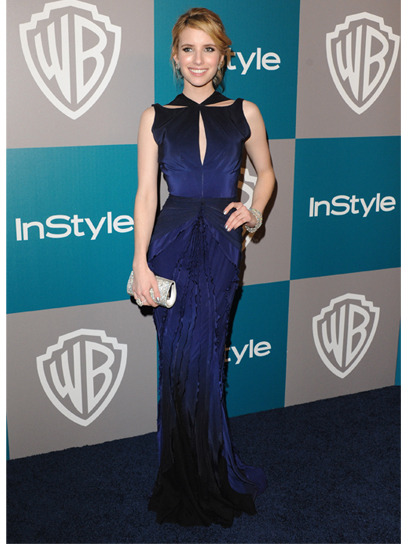Emma Roberts is one of our best-dressed celebs of the week in a navy blue cutout Zac Posen gown. Check out the rest of the stars who topped our list here »