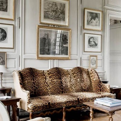 Leopard Print Living Room