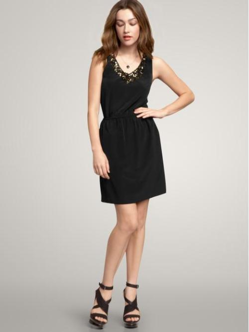 Embellished V-Neck Dress - $24.49 with code NEWYOU, Gap I love this LBD with a bit of sparkle at the top, it could be worn to so many events and looks really comfortable! (Who doesn't love an elastic waist?)