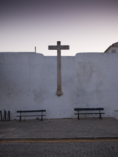 Cross at Sunset. Faro, Portugal. 2010.