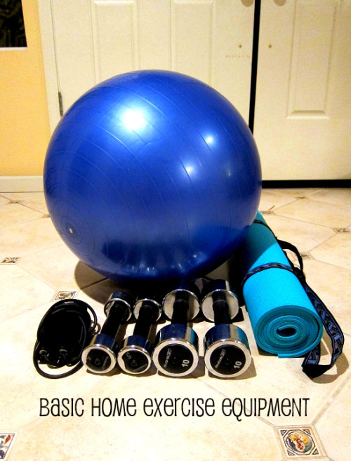 surfnrunnr:  Hi Everyone!  This is all you need to workout at home: Weights Mat  Swiss ball Jump rope  There are lots of workout routines using just these or nothing at all!   Seventeen's February Trim & Tone workout  (The full workout is in this month's issue)  Fitness Magazine's Ultimate Lunch-Hour Workout Women's Health Work-out-at-Home Women's Health Better Butt Have fun!   Getting fit doesn't have to cost a fortune.