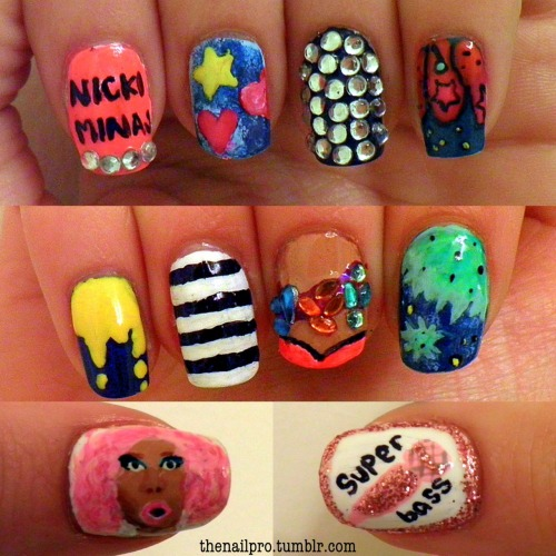 my nicki nails for the OPI nails4life contest! click here to vote for me! if you do, thank you! message me for colors used! http://bit.ly/xHqcuE