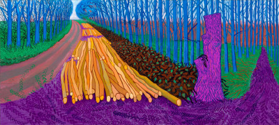 "© David Hockney, ""Winter Timber"", 2009. Hockney's new exhibition, ""A bigger picture"", is now at the Royal Academy of Arts, in London (from 21 January until 9 April, 2012)."