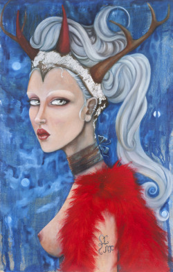 Lumi the Goddess of the Frostlimited edition fine art giclee printby Laurie McClave