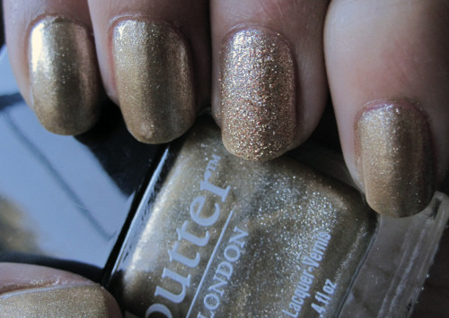 Butter London The Full Monty with Butter London West End Wonderland accent nail.