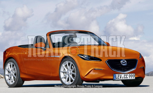 Mazda is getting ready to overhaul the 2014 Mazda MX-5 Miata with a turbocharged 4-cylinder engine and a more muscular exterior. (Source: Road & Track)