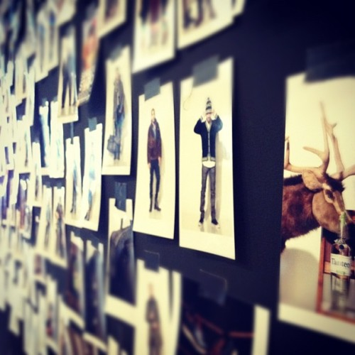 oncewheniwas: Wall of snaps c/o @sandboxstudios w/ the bloggers project #projectshowny  (Taken with instagram)