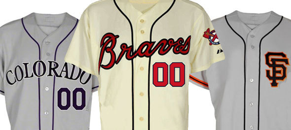 This week in 2012 MLB jersey leaks, the San Francisco Giants, Atlanta Braves & Colorado Rockies.