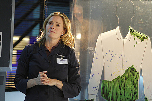 "Hey, it's Elisabeth Shue on ""CSI""! More photos. Photo credit: CBS."