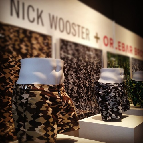 oncewheniwas:  @nickwooster x @orlebar brown for op art swim trunks #projectshowny  (Taken with instagram)