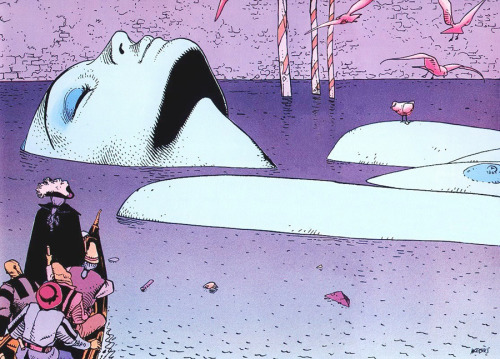 weandthecolor:  Illustration by Moebius Stunning surreal illustration by Moebius aka Jean Giraud. More inspiring illustrations. posted byW.A.T.C. // Facebook // Twitter // Google+