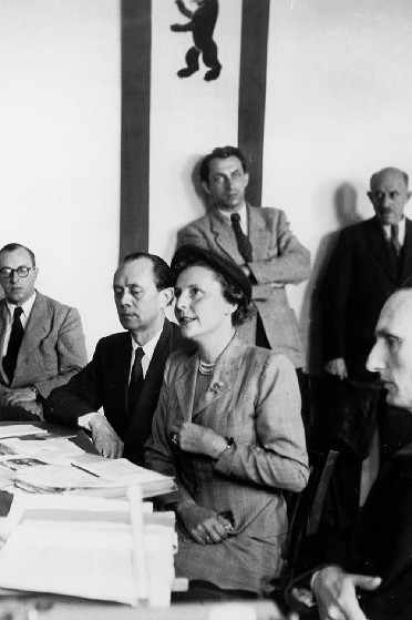 Leni Riefenstahl at her Denazification trial
