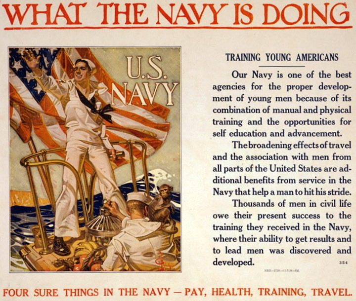 Navy poster by J. C. Leyendecker, 1918