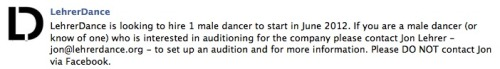 Consider this your official audition notice.