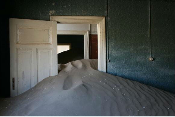 GHOST CITY #3 Kolmanskop, Namibia - Diamond mining community built by German Colonialists, including the first tram system in Africa, abandoned since 1954,