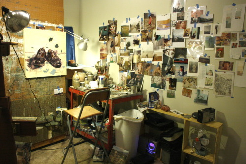 artistandstudio:  Chelsea James' Studio interior