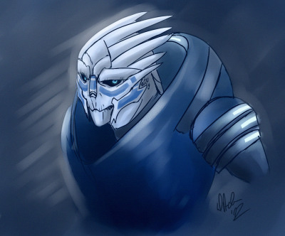totally-not-starscream:  Speedpaint of Garrus. I wanted to draw him without visor for starters since drawing aliens is not what I do on daily basis.  I kinda got sudden depression about my own art and tried to kill it with being actually productive.
