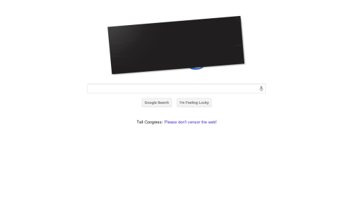 "^ Google's homepage today It looks like the online blackout to protest SOPA and PIPA is working — key lawmakers, including original PIPA co-sponsor Sen. Marco Rubio, either yanked support for the bills or spoke out against them for the first time.  Sen. Jim DeMint, who had remained silent on the issue, tweeted today that he opposes both SOPA and PIPA, calling them ""misguided bills that will cause more harm than good."" Libertarian Rep. Justin Amash went so far as to join the protest, disabling posting to his Facebook wall and replacing his picture with the words ""SOPA"" and ""PIPA"" crossed-out."