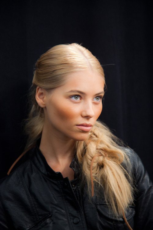 Throwback: Vika Falileeva @ DNA Models backstage at Michael Kors NYFW SS 12