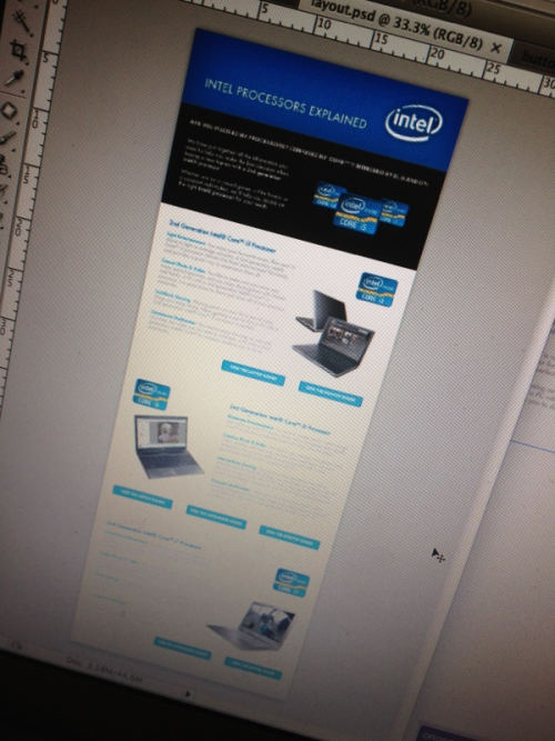 Also been doing a bit of freelance work for an Intel feature