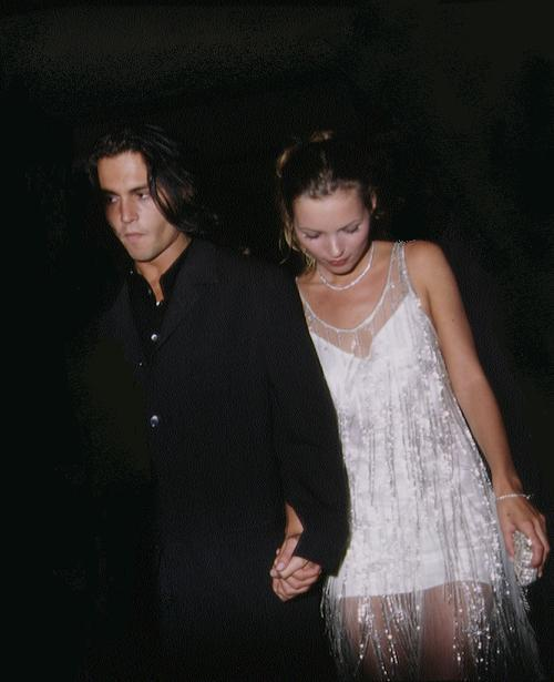 mossinspiration:  Kate Moss with Johnny Depp